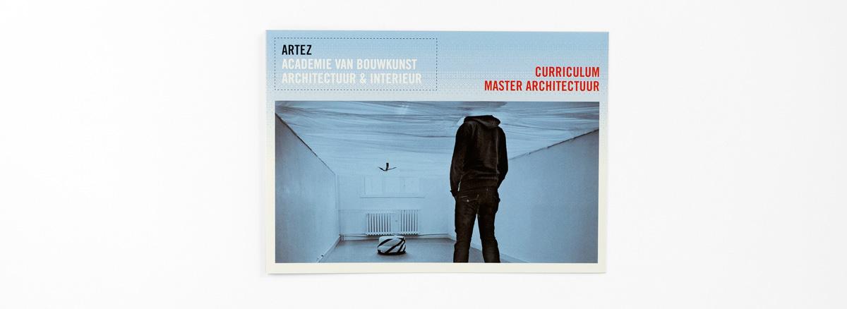 ArtEZ Bouwkunst, folder curriculum, omslag