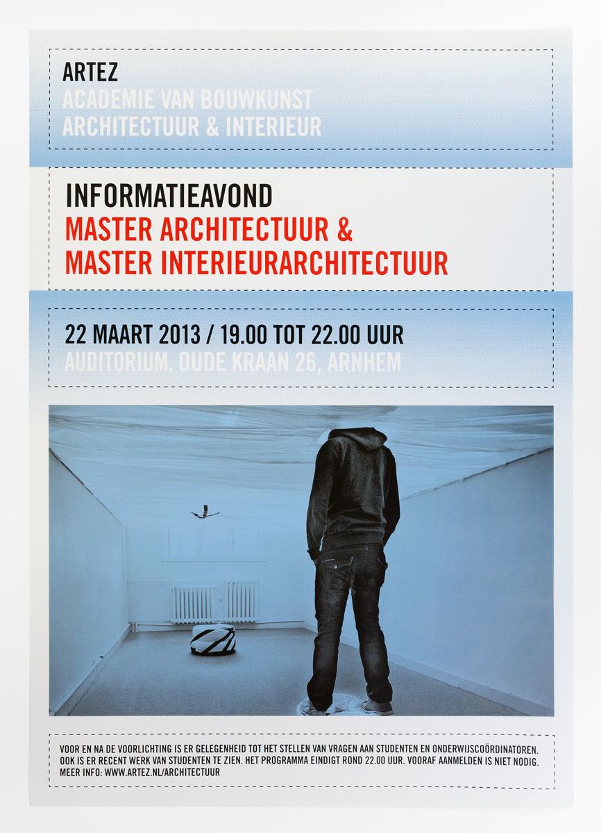 ArtEZ Bouwkunst, affiche informatieavond