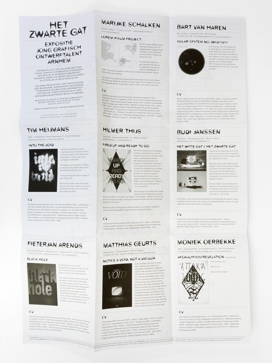 Publicatie Het Zwarte Gat (achterzijde)
