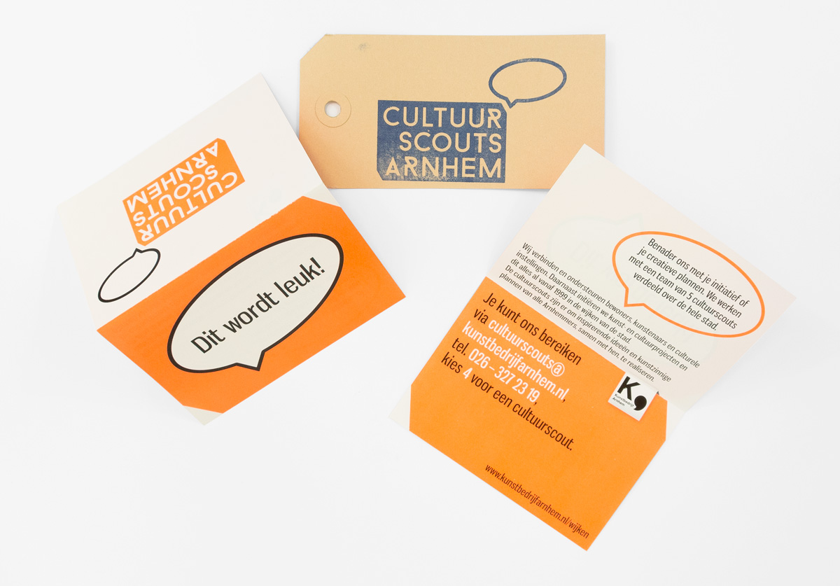 Cultuurscouts Arnhem, folder, stempel