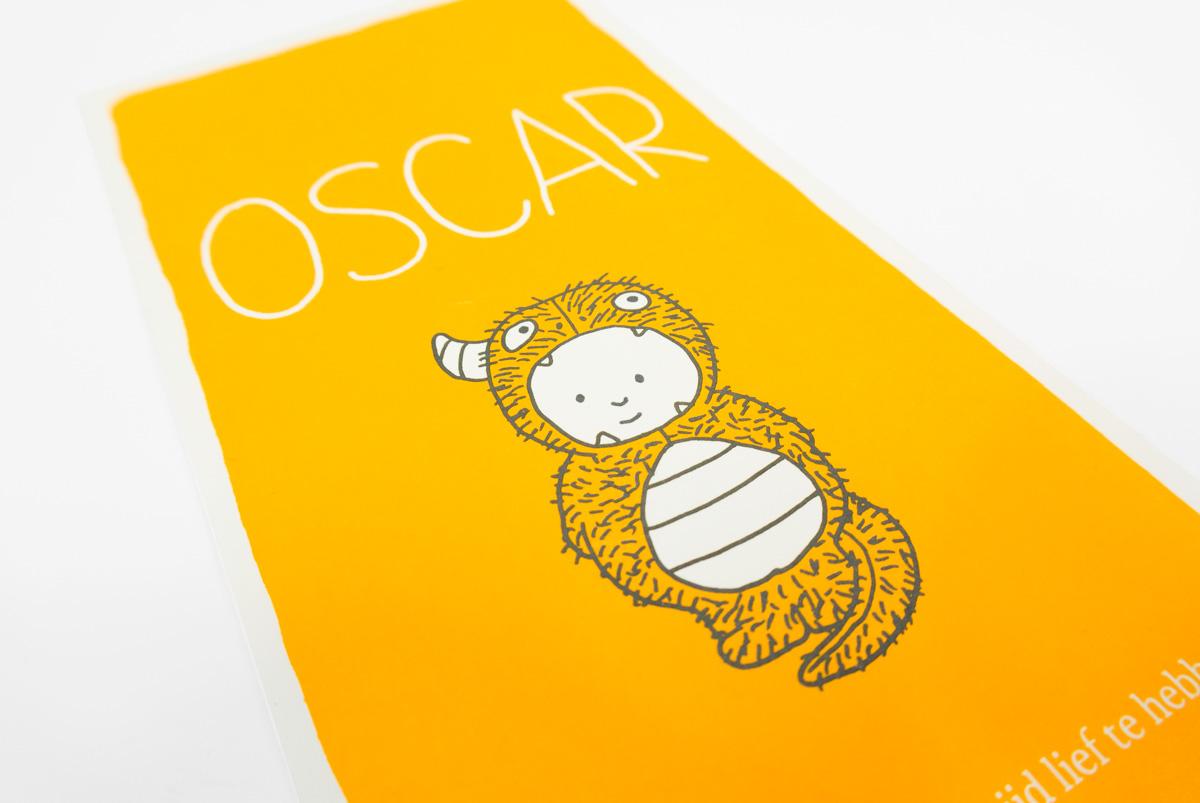 Geboortekaartje Oscar (detail)