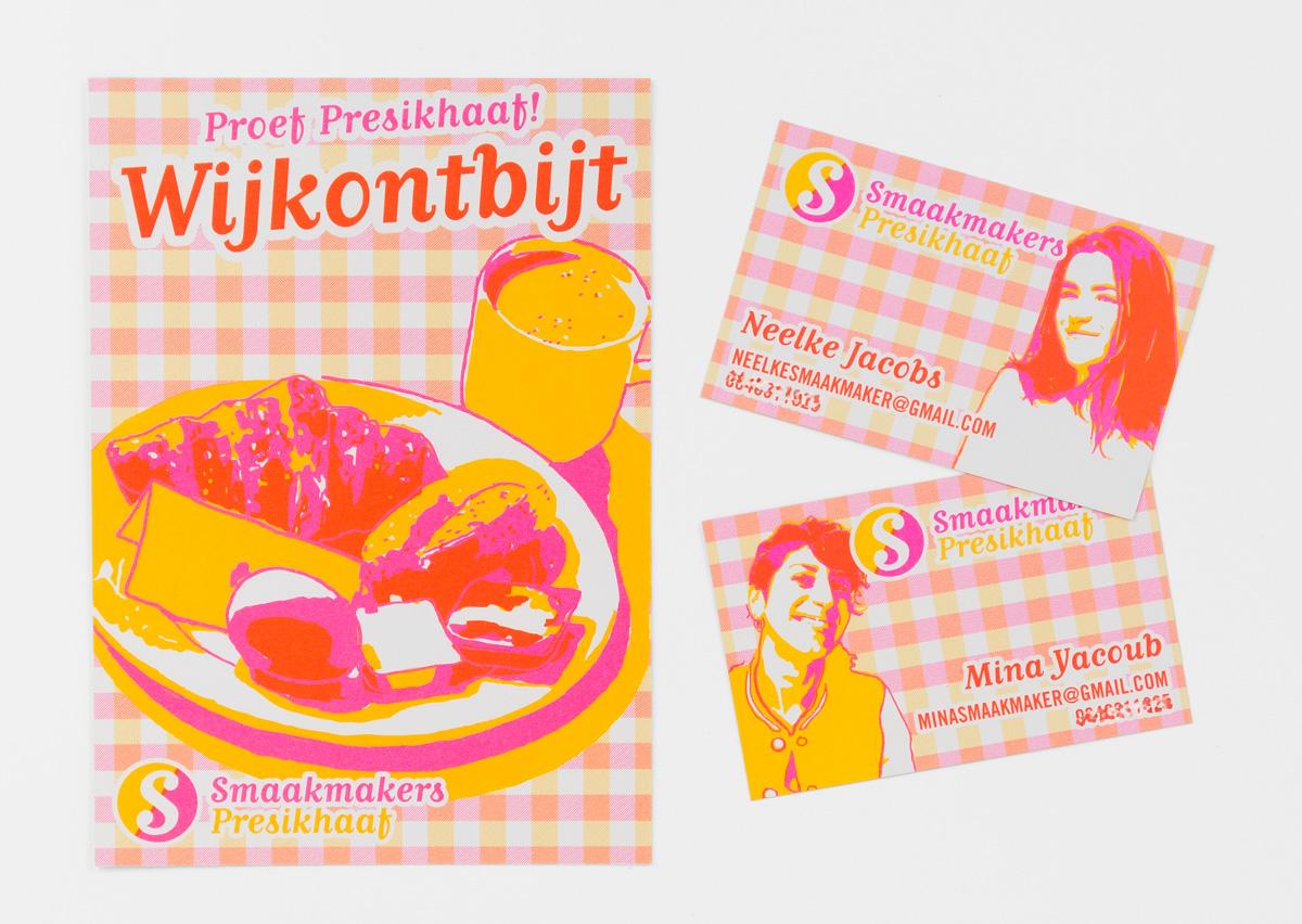 Smaakmakers Presikhaaf flyer, visitekaartjes