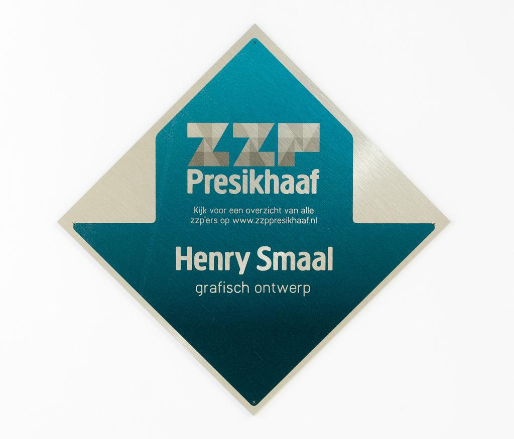 ZZP Presikhaaf, gevelbordje